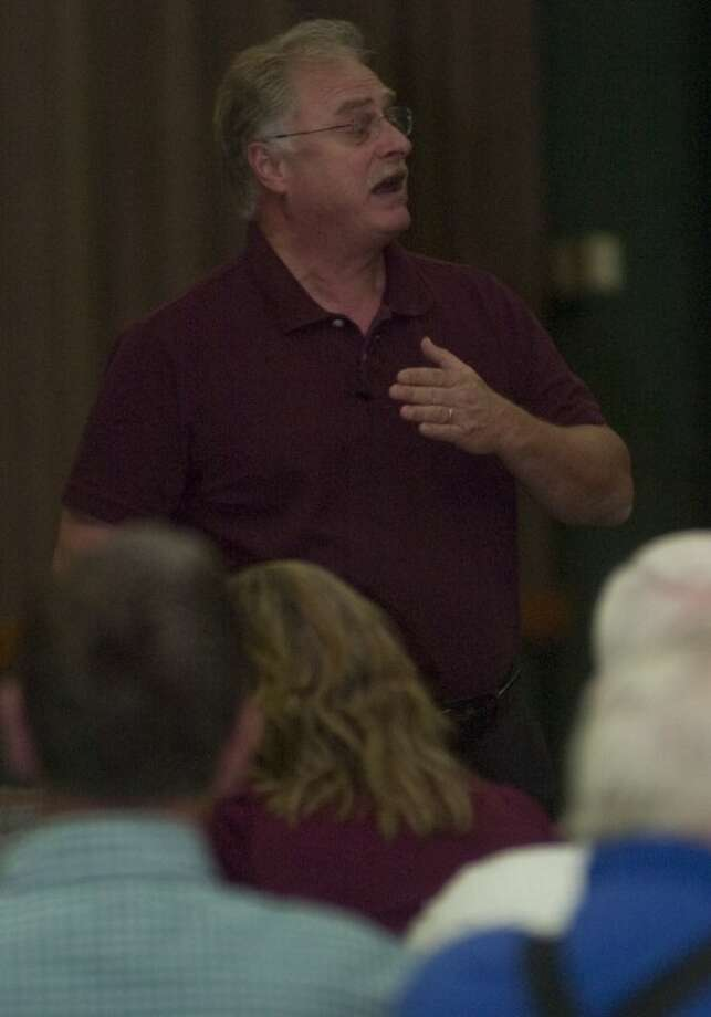 Jimmy Meeks, 30 years law enforecement retired and ordained minister, talks about why there is a need for safety in the church during a seminar Monday at the Midland Center. Photo by Tim Fischer/Midland Reporter-Telegram Photo: Tim Fischer