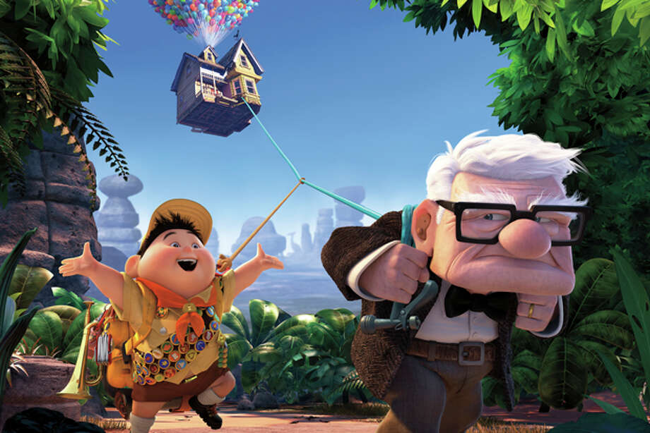 "In this image released by Disney/Pixar Films, animated characters Russell, left, and Carl Fredricksen are shown in a scene from the film, ""Up."" (AP Photo/Disney/Pixar) Photo: Anonymous / AP2009"