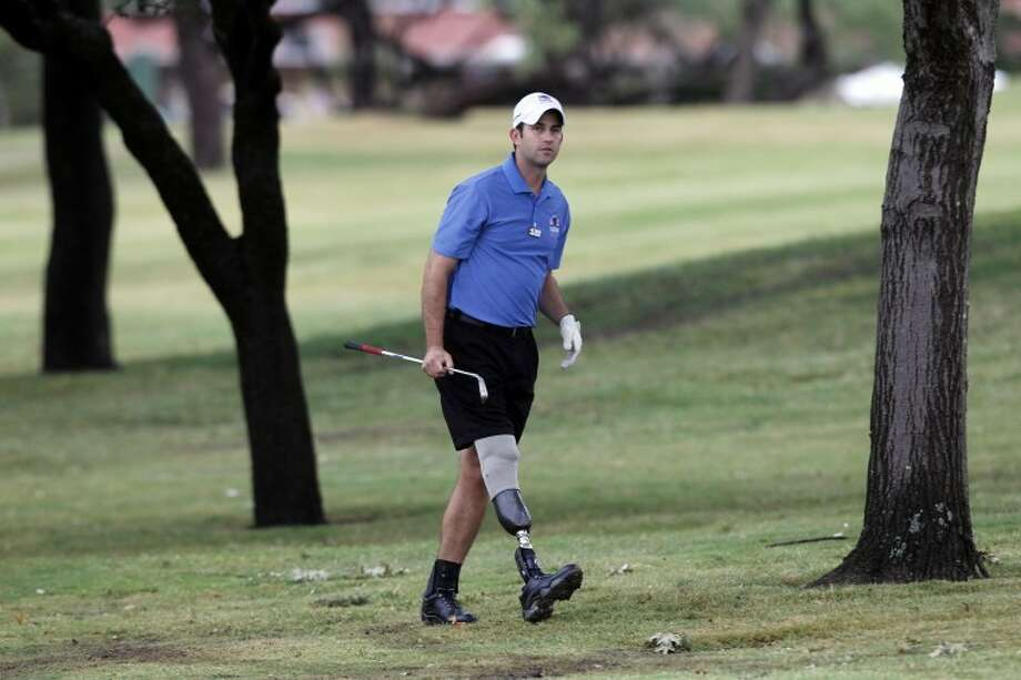 John Faulkenberry participates in the Bush Center Warrior Open on Oct. 10, 2011at the Las Colinas Country Club in Irving. Photo: Layne Murdoch