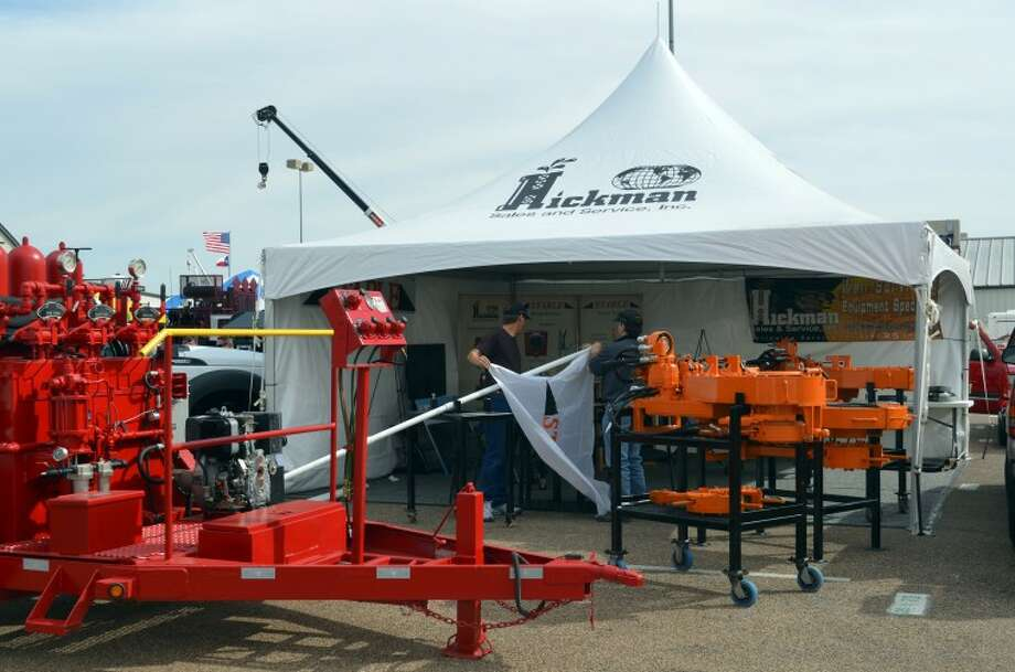 Exhibition tent at the Permian Basin International Oil Show. Photo: James Cannon/MRT