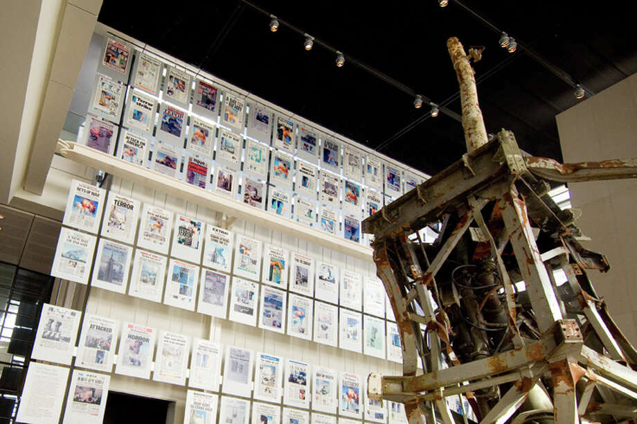 A Newseum exhibit in Washingon, D.C. shows newspaper front pages from around the country relating to the Sept. 11, 2001 attacks. Photo: Sam Kittner/kittner.com / OK for Public Relations; Editorial; and News use related to the Newseum; Washington; DC