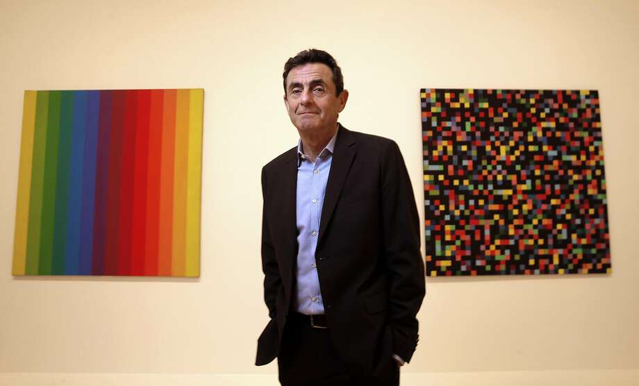 SFMOMA Director Neal Benezra in front of works by Ellsworth Kelly in the museum's new wing. , Spectrum I, 1953, (left) and Spectrum Colors Arranged by Chance, 1951-53, at the new San Francisco Museum of Modern Art in San Francisco, California, on Thurs. May 5, 2016. Photo: Michael Macor, The Chronicle