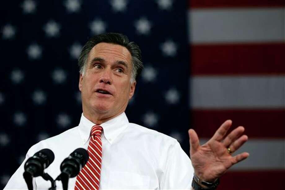 (File Photo) Mitt Romney. Photo: Charles Dharapak / AP