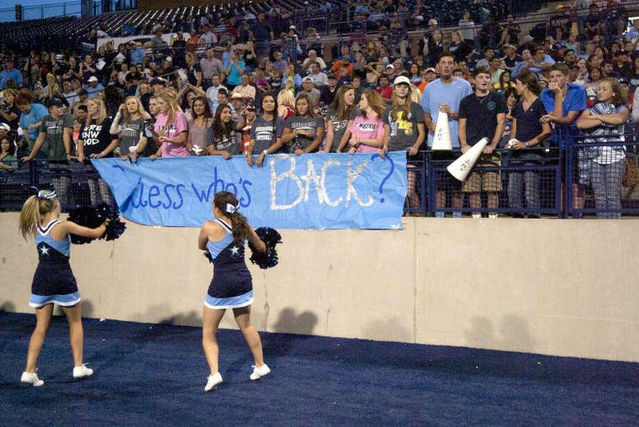 Greenwood against Kermit Thursday at Grande Communications Stadium. James Durbin/Reporter-Telegram Photo: JAMES DURBIN