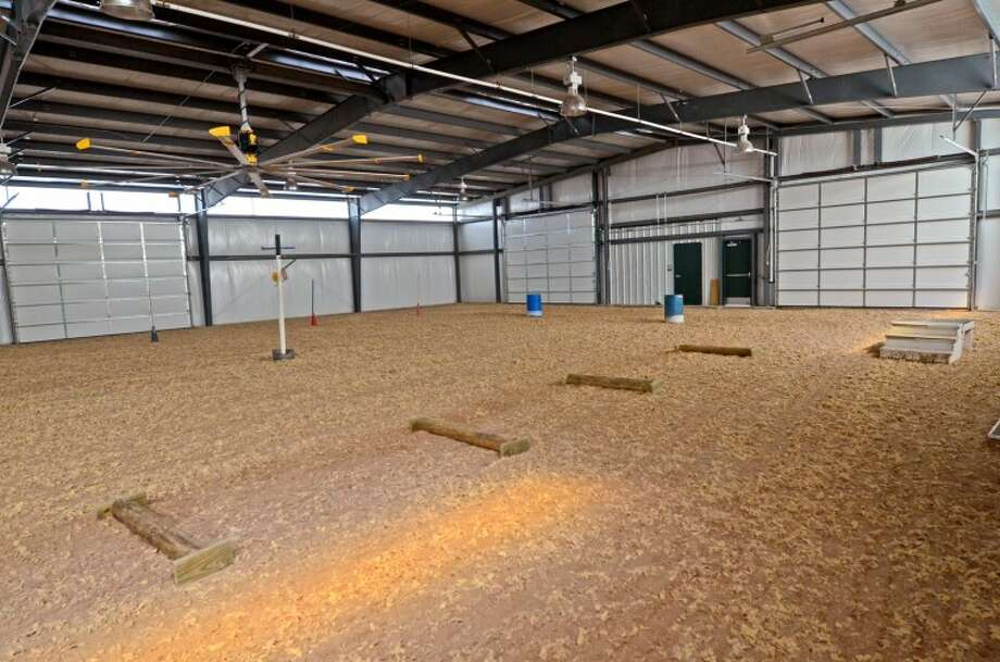 Interior view of the new horse arena at the Midland Children's Rehab Center to be used for horse therapy programs. James Durbin/Reporter-Telegram Photo: JAMES DURBIN