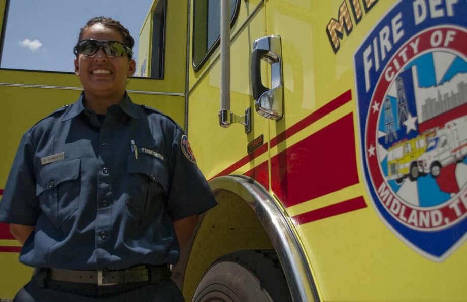 Bernie Gonzalez is the second female Midland fire fighter. Tim Fischer\Reporter-Telegram Photo: Tim Fischer