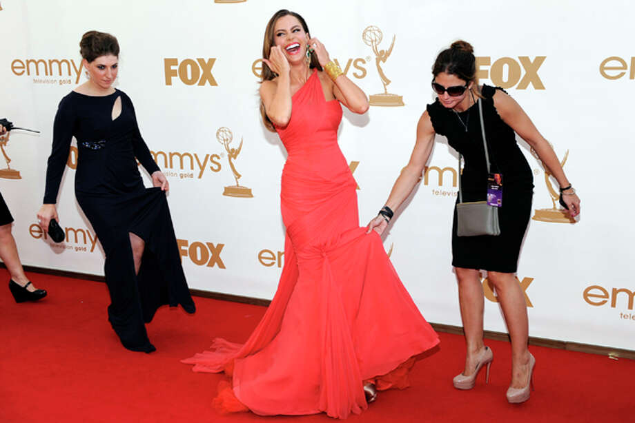 Sofia Vergara arrives at the 63rd Primetime Emmy Awards on Sunday, Sept. 18, 2011 in Los Angeles. (AP Photo/Chris Pizzello) Photo: Chris Pizzello / AP2011