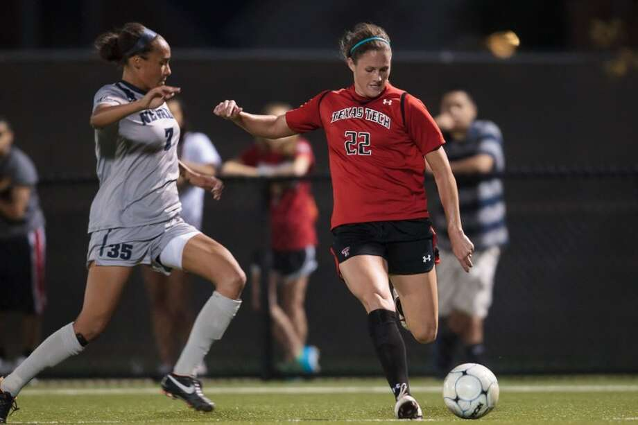 Texas Tech senior forward and Midland High grad Dawn Ward kicks the ball upfield during a game at the John Walker Soccer Complex earlier this season. Ward and the Red Raiders will take on North Texas in the first round of the NCAA Women's Soccer Tournament at 7 p.m. Saturday in Lubbock. Photo: Texas Tech Athletics / Michael S