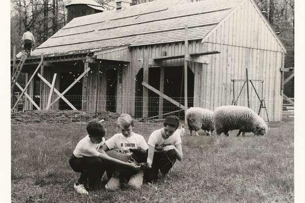 1957 - Heckscher Barn under construction in Stamford