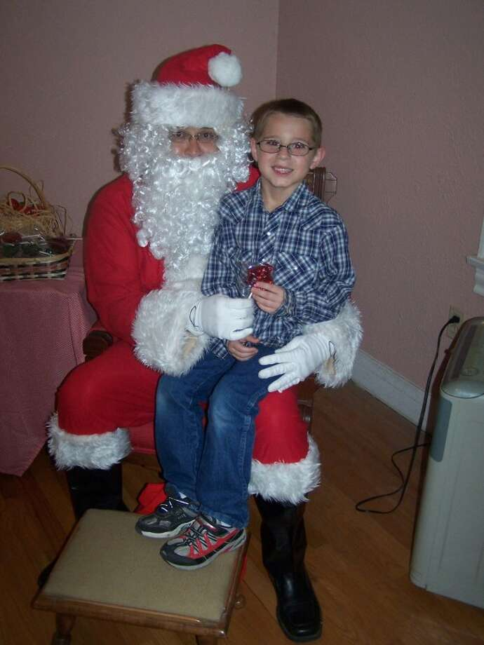 Colton Sparks, 6, with Santa