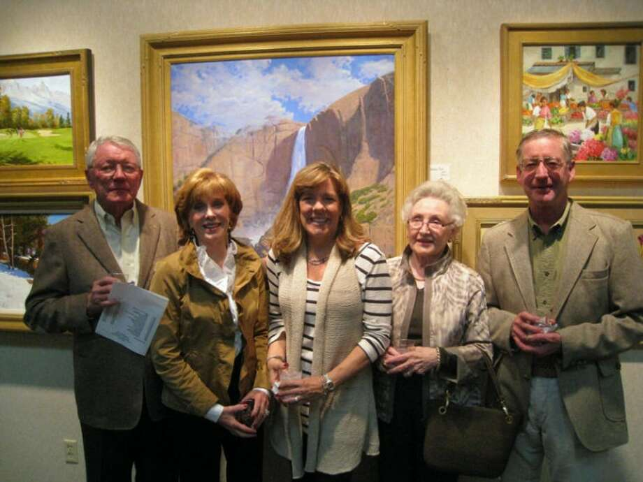 Haley Library show: Clint and Vicki Hurt, from left, Kathy Shannon, Sharon Yeager and George McAlpine.