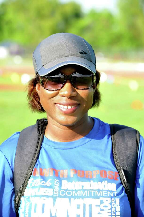 The UIL District 17 6A track meet was held, 4-14-2016, at Cy Ridge High School.   Ruqayya Gibson girls varsity track coach at Cy Springs. Photo: Eddy Matchette, Freelance / Freelance