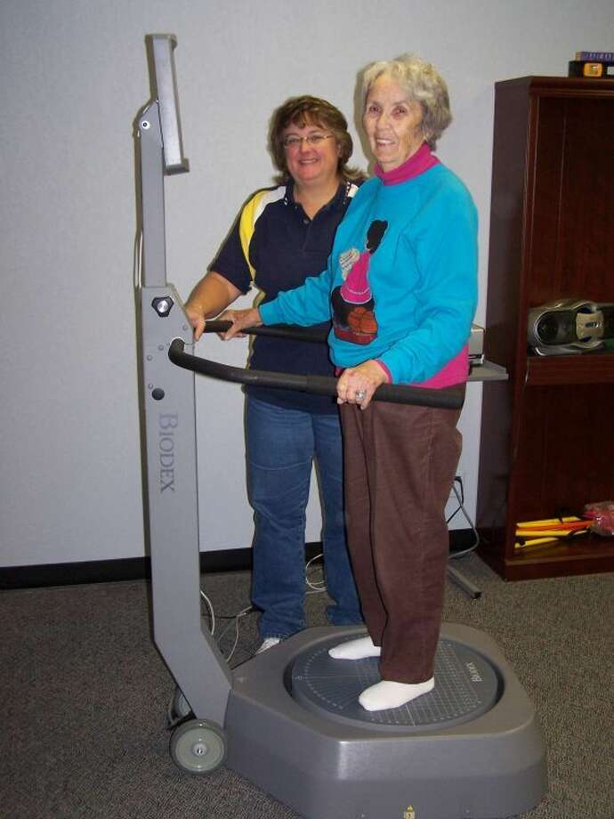 In Balance client Irene Banks has kept up her gait as she ages. Call In Balance's Missy Dwyer at 685-3556