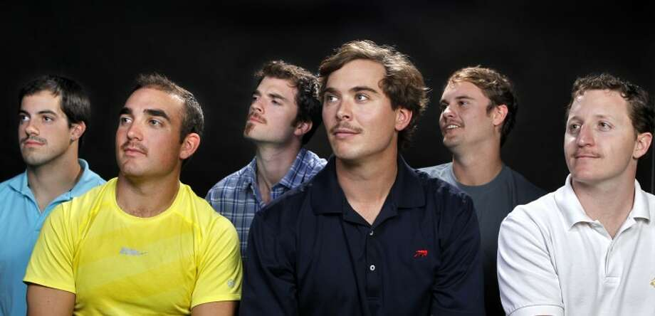 "From left, Cory Swanson, Ryan Taylor, John Nelson, Nick Twist, Ryan Armbruster and Collin Currell show off the mustaches they are growing during the month of November to raise awareness for prostate cancer and men's health issues. The month-long event, known as ""Movember,"" is growing on males worldwide. James Durbin/Reporter-Telegram Photo: JAMES DURBIN"