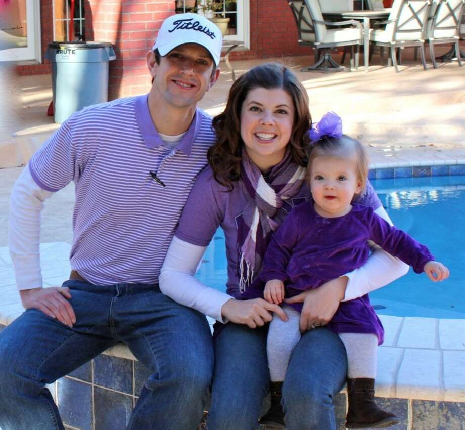 Josh, Abby and Mallory Grace Bishop pose for a family photo. Photo: Courtesy Photo