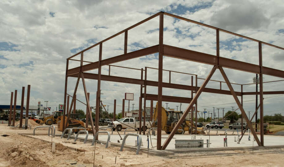 Work continues on a new Jack's Convenience Store on the corner of Wadley and Big Spring. Tim Fischer\Reporter-Telegram Photo: Tim Fischer