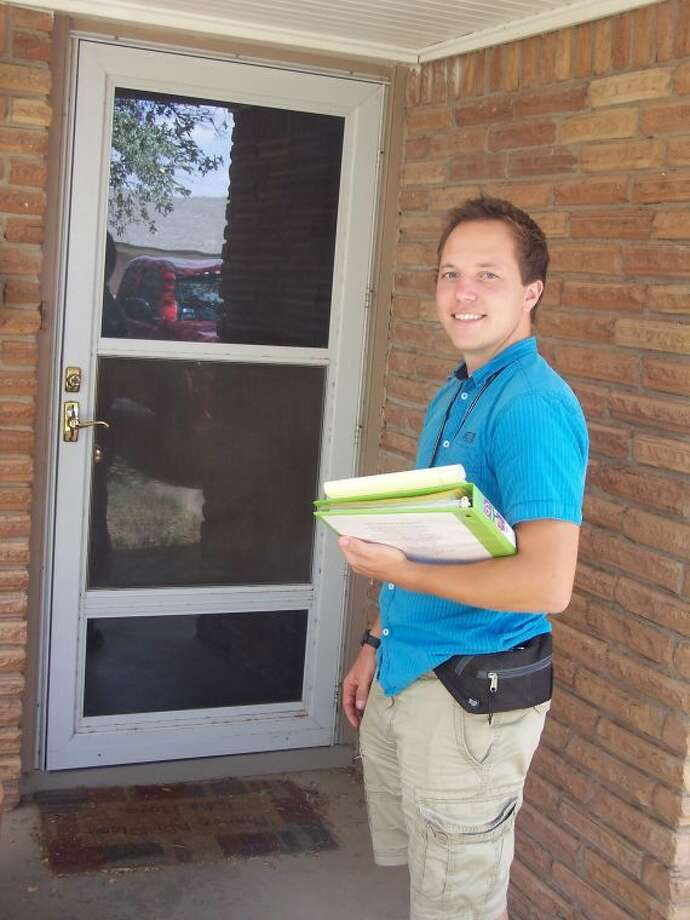 Estonian student Timo Aleste is one of seven Eastern European young men and women selling educational materials door -to-door in the Permian Basin this summer. They have faced challenges based on unfounded Facebook rumors that they are Russian spies. The Midland Police Department reports that their permits are all in order.