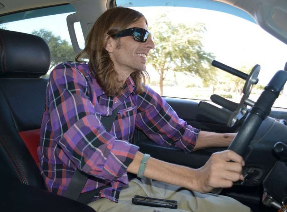 Joel Buckingham enjoys driving Photo: James Cannon/MRT