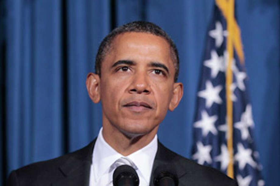 President Barack Obama speaks at the White House Forum on American Latino Heritage, Wednesday, Oct., 12, 2011, at the Interior Department in Washington. (AP Photo/Pablo Martinez Monsivais Photo: Pablo Martinez Monsivais / AP