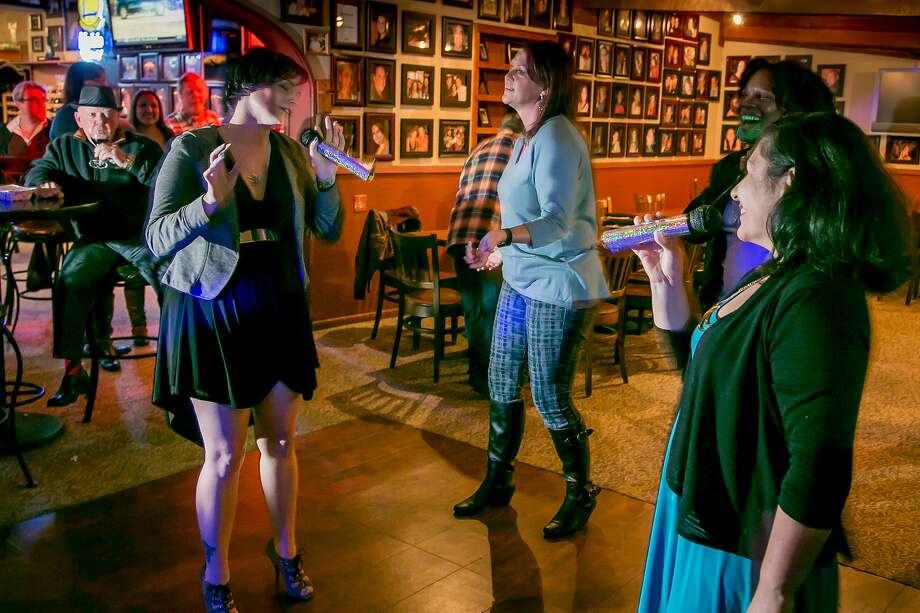 Karaoke night at Trancas Steakhouse in Napa brings out the locals for a beer and a song. Photo: John Storey, Special To The Chronicle