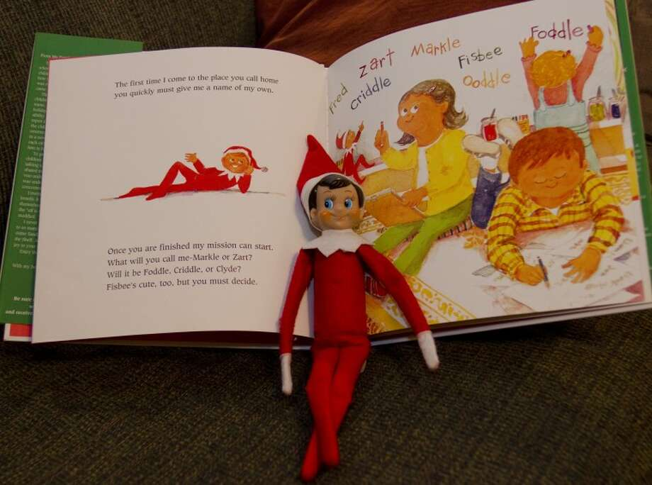 Elf on the Shelf is known to move around the house, hiding in different places. Tim Fischer\Reporter-Telegram Photo: Tim Fischer