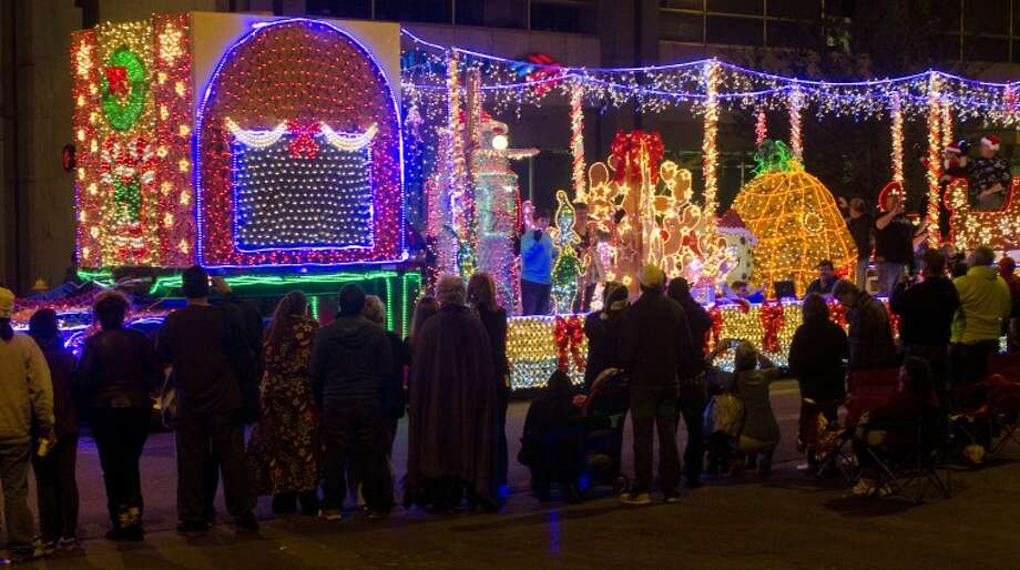 (File Photo) One of the floats in this years City Christmas Parade is lit with more than 50,000 lights. Tim Fischer\Reporter-Telegram Photo: Tim Fischer