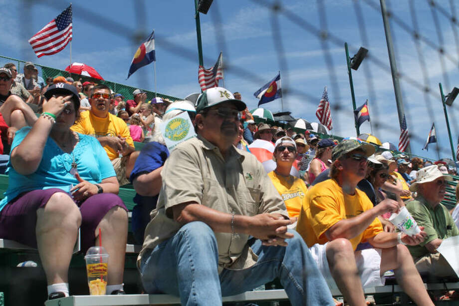 Midland College fans watch the Chaparrals in their opener at the Juco World Series on Saturday at Sam Sulpizo Field in Grand Junction, Colo. Buddy Brown/Special to the MRT