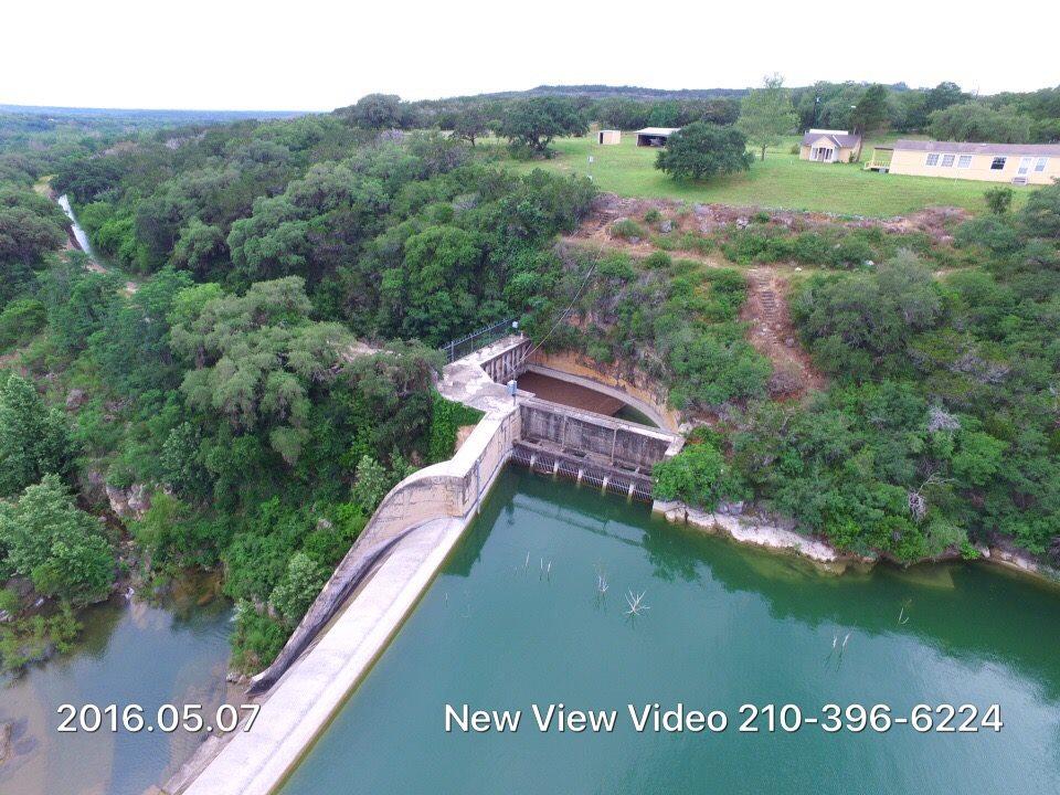 Drone Photos Show Diversion Lake Near Medina Lake In