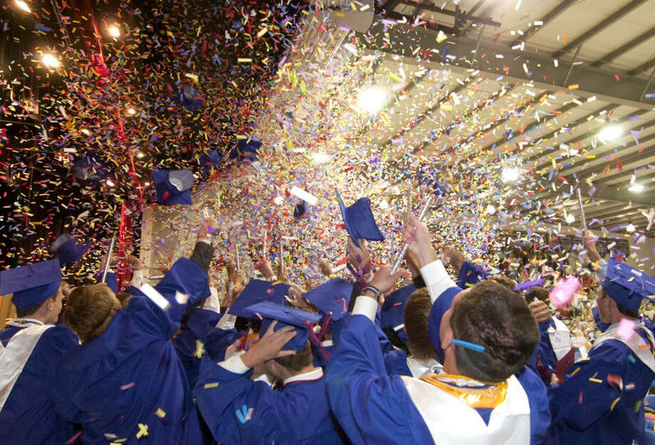 Midland Christian School graduation ceremony Friday in the school gym. James Durbin/Reporter-Telegram Photo: JAMES DURBIN