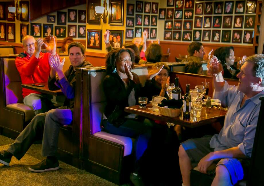 Karaoke night at Trancas Steakhouse in Napa. Photo: John Storey, Special To The Chronicle