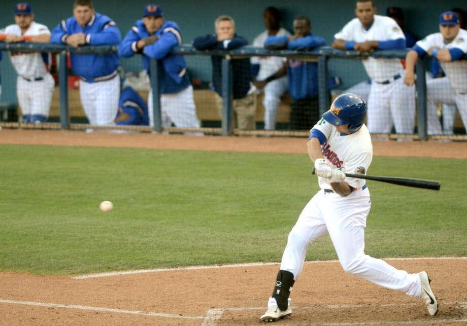 RockHounds' Anthony Aliotti swings against Corpus Christi Wednesday at Citibank Ballpark. James Durbin/Reporter-Telegram Photo: JAMES DURBIN