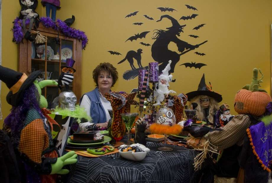 Beverly McClatchy loves to decorate her entire home for Halloween. Photo by Tim Fischer/Midland Reporter-Telegram Photo: Tim Fischer