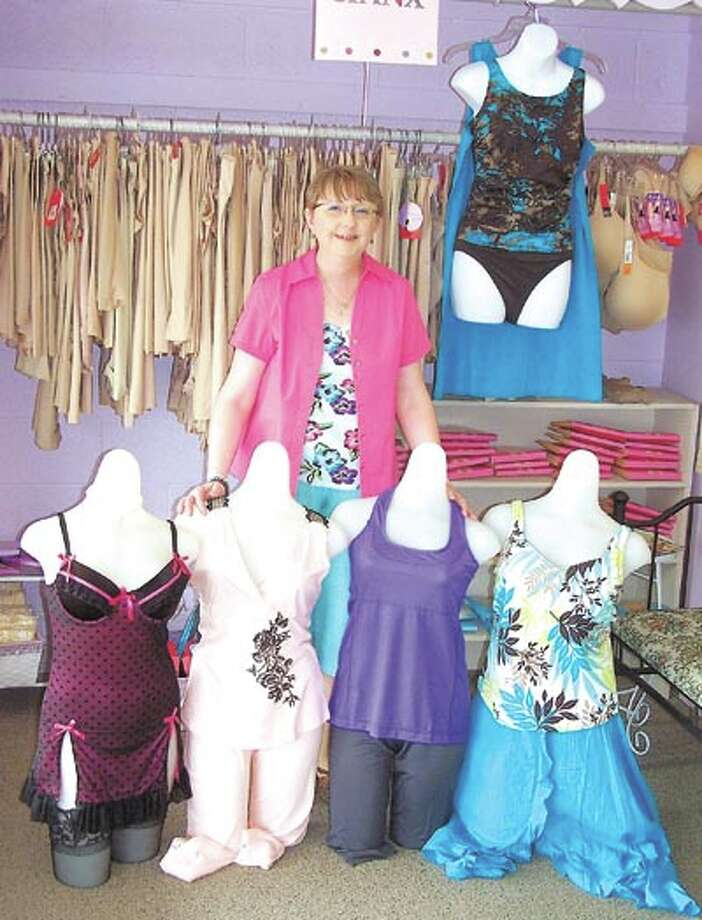 "Fun in the sun time is waiting for you at The Pennyrich Shop. Owner Sharon Wilcox has new swimsuits, coverups, lingerie and more. Be sure to stop by on Friday June 10 from 1-3 p.m. to see Four Funny Females and donate to ""Free the Girls."" The shop is at 311 Dodson Street."