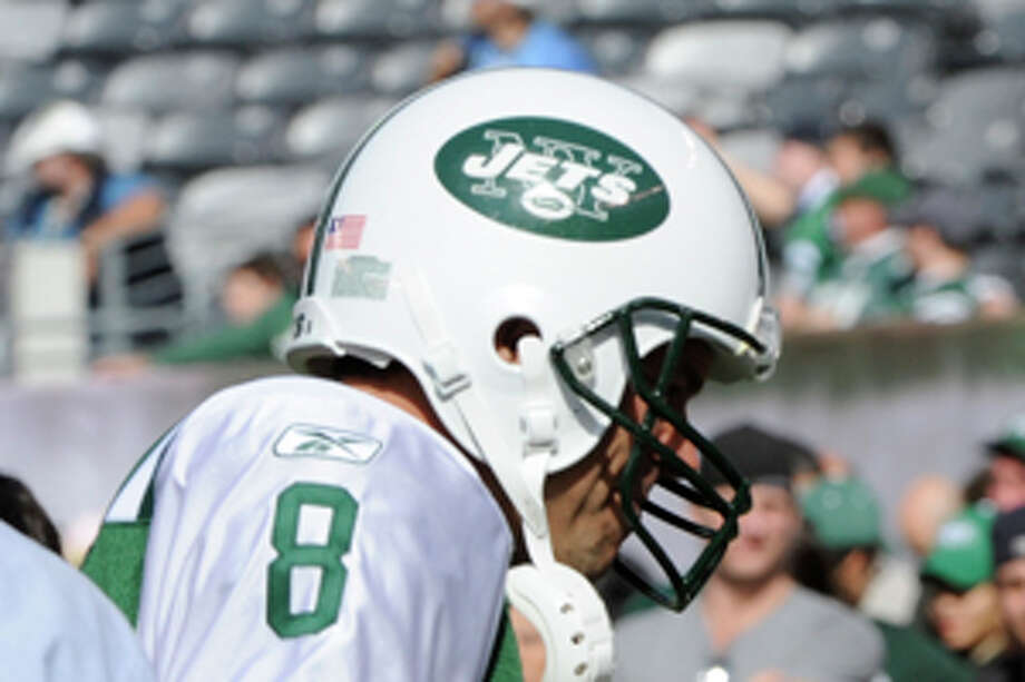 New York Jets' Mark Brunell is seen before an NFL football game between the San Diego Chargers and the New York Jets, Sunday, Oct. 23, 2011, in East Rutherford, N.J. (AP Photo/Bill Kostroun) Photo: Bill Kostroun / FR51951 AP