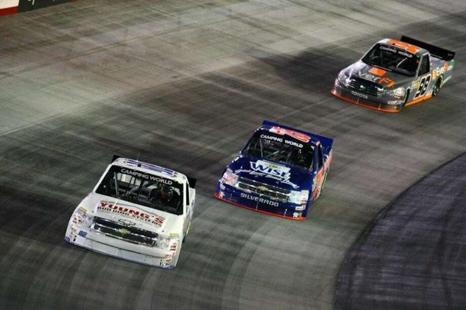 Tyler Young competes at Bristol Motor Speedway last year. Young will race in the WinStar Casino 400 at Texas Motor Speedway on Friday night.Courtesy photo