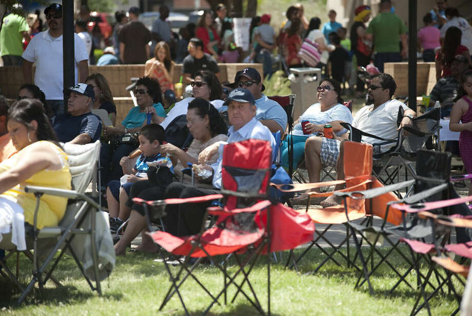 Crowds begin to save thier places with chairs Saturday afternoon for the concerts at Mex Tex. Tim Fischer\Reporter-Telegram Photo: Tim Fischer