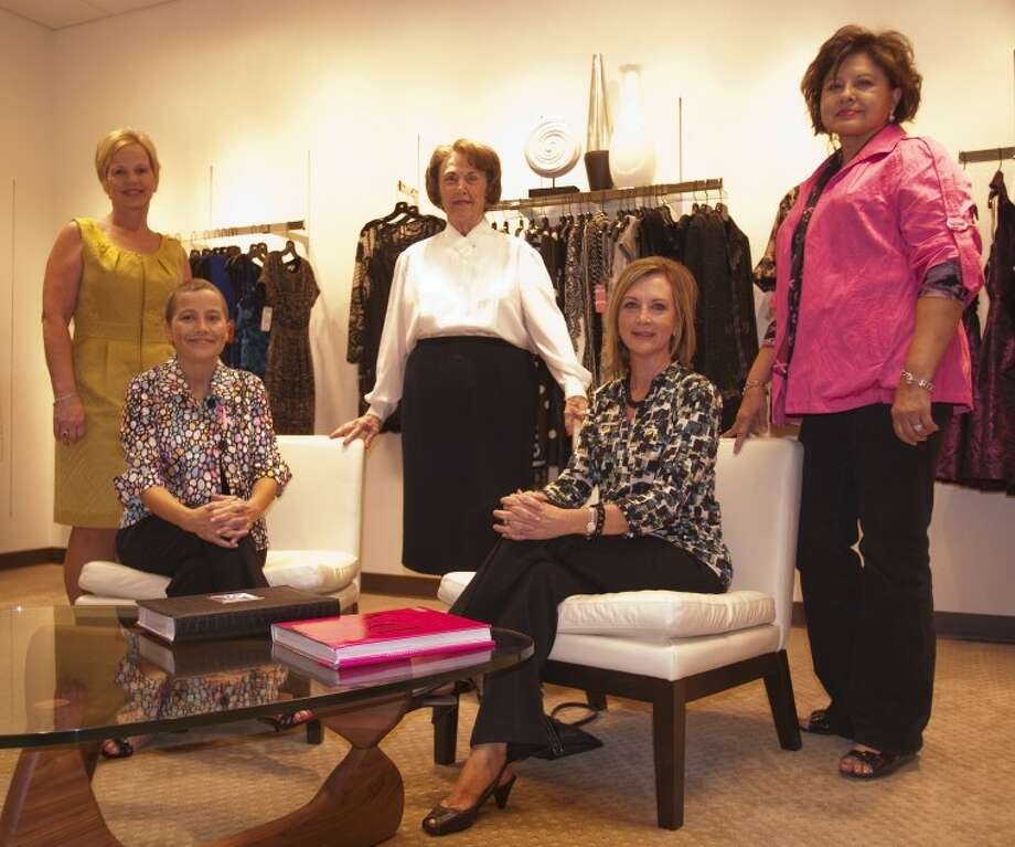 Models for the Breast Cancer Survivors style show, stabding left, Debbie Breaux, Betty Ewan, Adela Vasquez, seated, Melody Hart and Lisa Lossin. Tim Fischer\Reporter-Telegram Photo: Tim Fischer