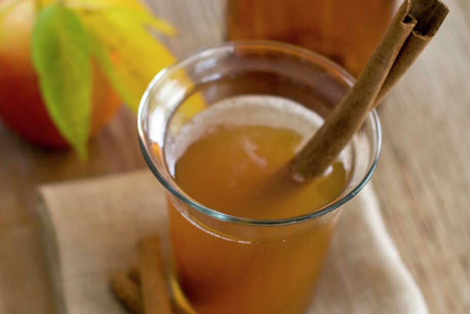 This Oct. 17, 2011 photo shows a holiday soother in Concord, N.H. This warming blend of Scotch whisky and apple cider is just right for sipping while waiting for the turkey to come out of the oven. (AP Photo/Matthew Mead) Photo: Matthew Mead / FR170582 AP