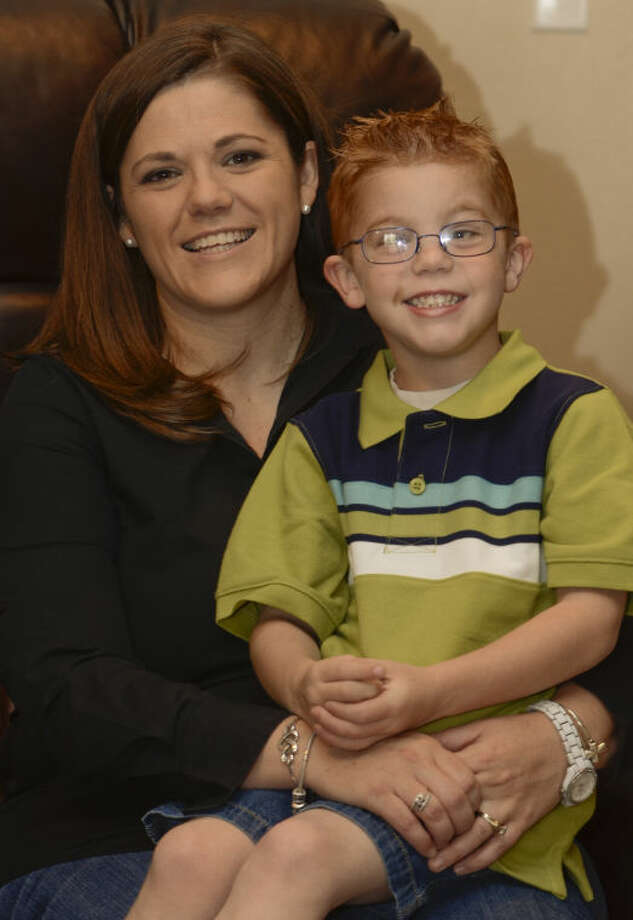 Linsey Hyatt and her son Tucker Beau, 4, who has juvenile arthritis, will be in the upcoming Arthritis Foundation walk. Tim Fischer\Reporter-Telegram Photo: Tim Fischer