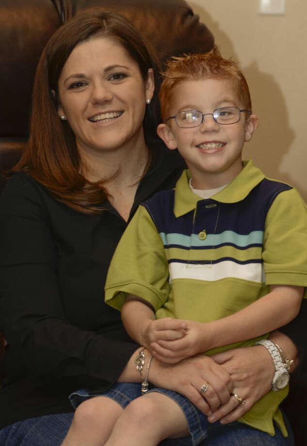 Linsey Hyatt and her son Tucker Beau, 4, who has juvenile arthritis, will be in the upcoming Arthritis Foundation walk. Tim Fischer\Reporter-Telegram Photo: Tim Fischer