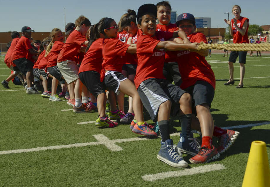 Students from Carver Center, Bowie Fine Arts and Fannin Elementary compete and have fun during field day activities Monday at Memorial Stadium. Tim Fischer\Reporter-Telegram Photo: Tim Fischer