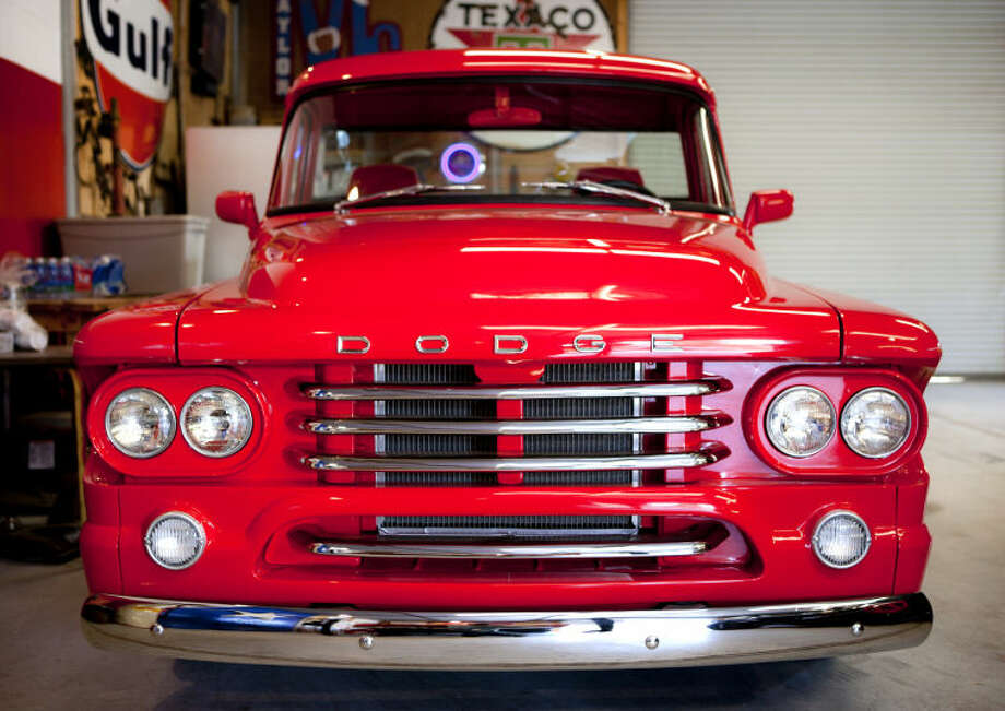 1958 Dodge D100 pickup owned by Jerry Cox, Tuesday, May 14, 2013. James Durbin/Reporter-Telegram Photo: JAMES DURBIN
