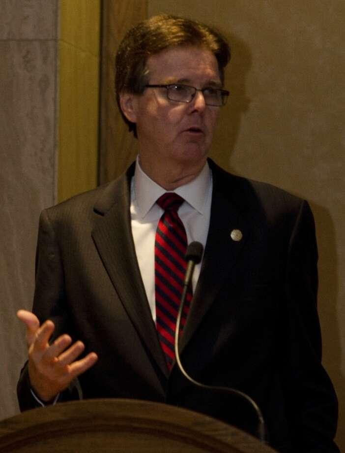 Texas Senator Dan Patrick, speaks Thursday at the Permian Basin Petroleum Association annual meeting. Tim Fischer\Reporter-Telegram Photo: Tim Fischer
