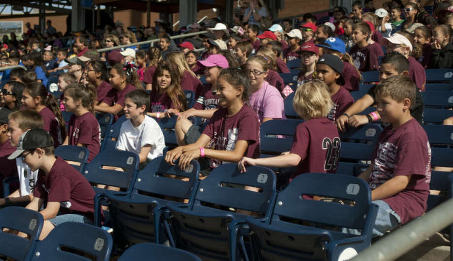 Schools from around the area come out for kids day with the RockHounds at an afternoon game Tuesday at CitiBank Ballpark. Tim Fischer\Reporter-Telegram Photo: Tim Fischer