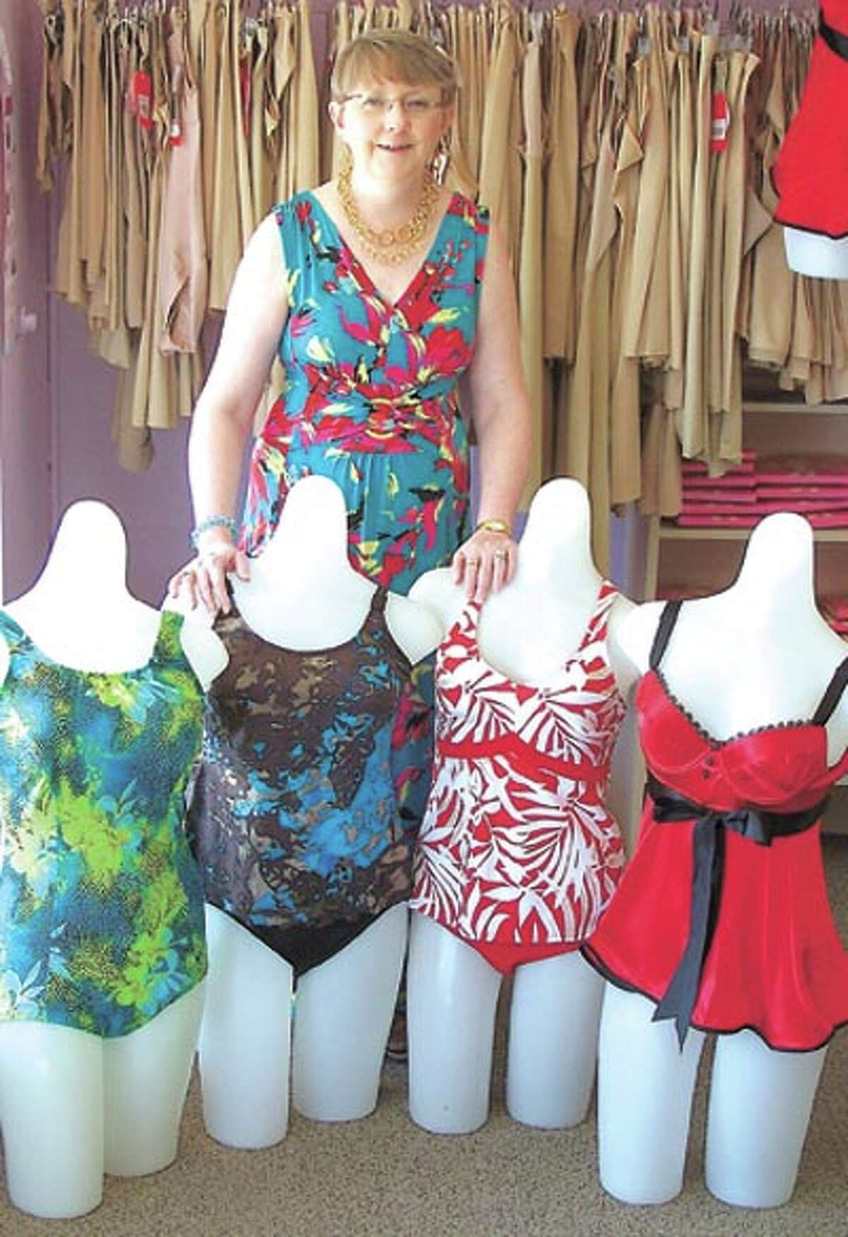 Ready to swim? Sharon Wilcox at The Pennyrich Shop has your swimsuit! She's at 311 Dodson Street in Old Town Midland. The shop is now open Tuesday through Saturday.
