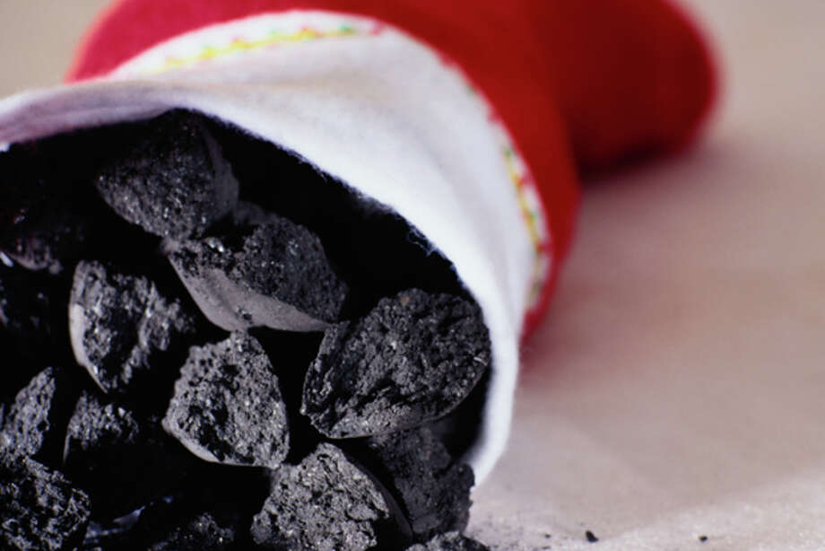 Christmas Stocking Full of Coal Photo: Getty Images / (c) Ryan McVay