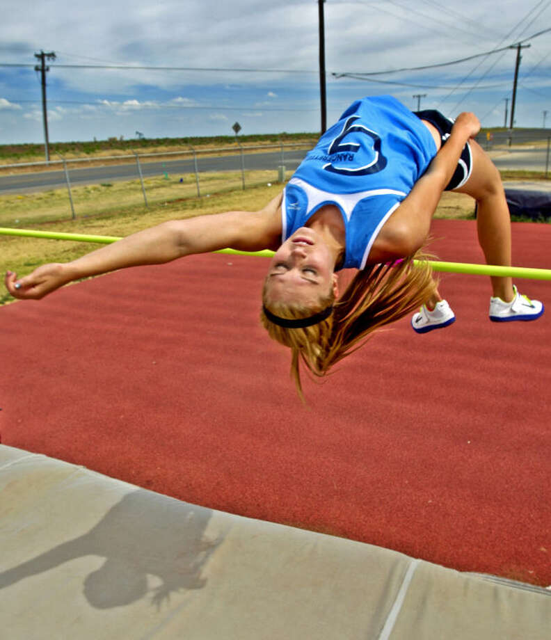Morgan McKee will represent Greenwood in the high jump during the state track meet this weekend in Austin. Portrait photograph taken Wednesday, May 8, 2013 at the Greenwood track facility. James Durbin/Reporter-Telegram Photo: JAMES DURBIN
