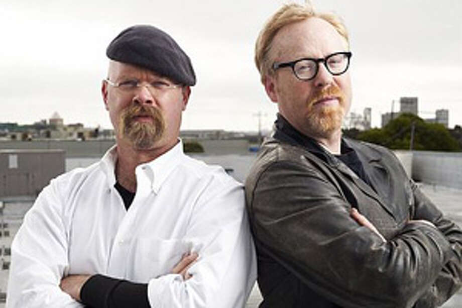 "Jamie Hyneman and Adam Savage lead Discovery Channel's ""Mythbusters"" team. Photo: Discovery Channel"