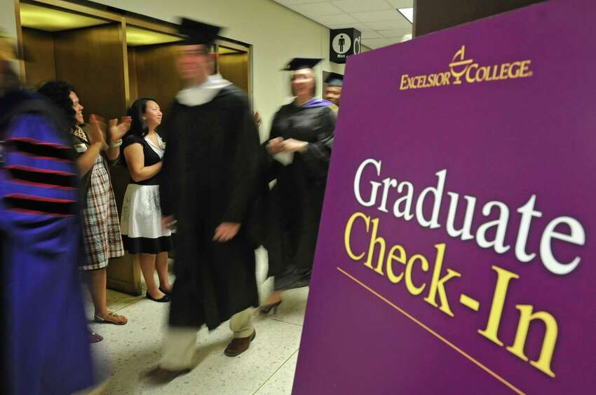 Graduates attend the Excelsior College commencement ceremony at the Empire State Plaza Convention Center on July 9, 2010, in Albany, N.Y. (Lori Van Buren / Times Union archive)