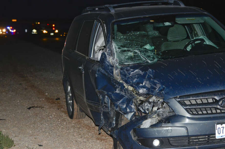 A two car accident on Hwy 158 at the Nadine and Tom Craddick Hwy sent at least two people to the hospital with non-life threatening injuries Monday night. Tim Fischer\Reporter-Telegram Photo: Tim Fischer